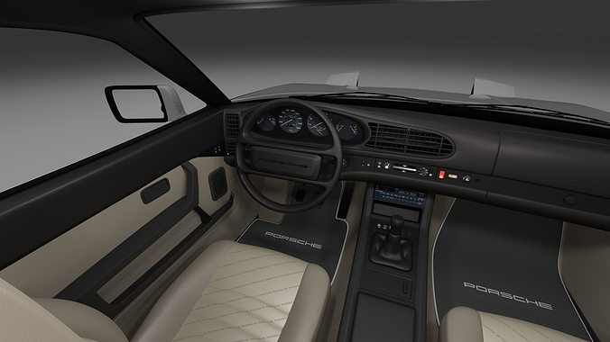 Porsche 944 S2 With Interior 3d Model Obj Fbx Stl Blend Dae Mtl 23