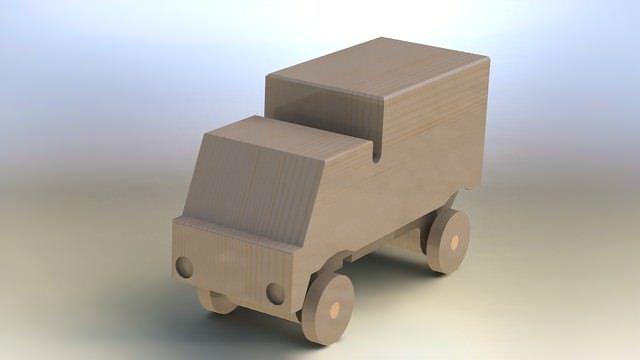 truck asm 3d model stl sldprt sldasm slddrw rfa rvt 1