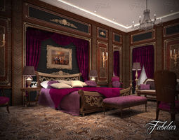 Bedroom luxury 3D model