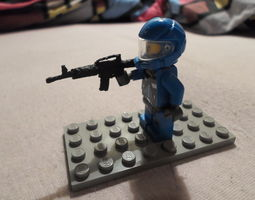 LEGO Weapon for minifig M4A1 3D printable model
