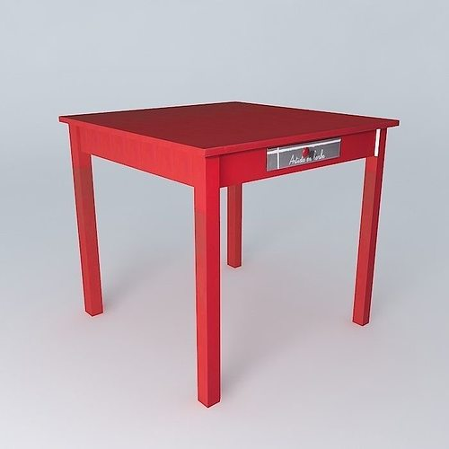 Game Table SMALL WORKSHOP Houses The World 3D Model