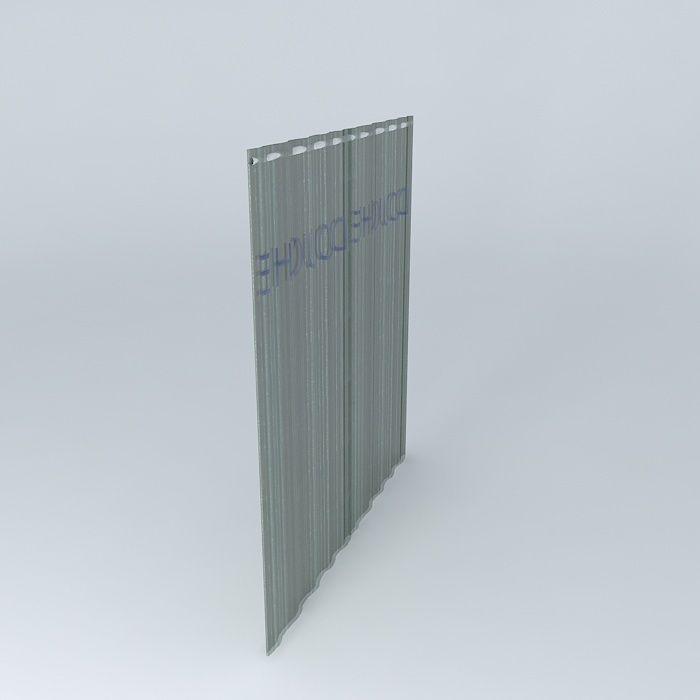 Translucent Shower Curtain 3d Model Max Obj 3ds Fbx Stl Dae 2
