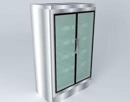3d model kit814 exhibiting refrigerator 2 doors by alex marques