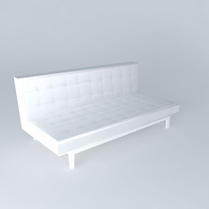 Studio Sofa Bed Houses The World 3d Model Max Obj 3ds Fbx Stl Dae