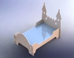 3D model Fairy castle bed