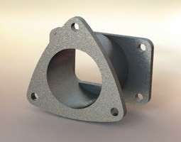 3D model Exhaust flange asm
