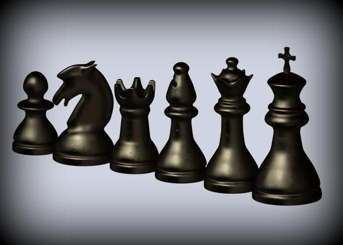 image relating to Chess Board Printable titled Clic Chess Preset 3D Print Type