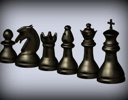 3D printable model Classic Chess Set