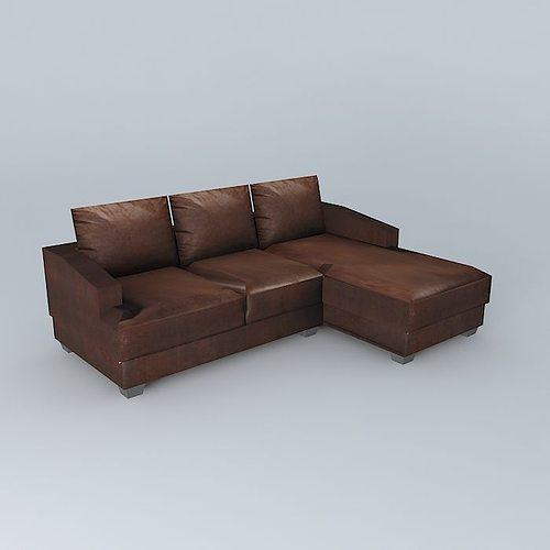 Philadelphia Brown Sofa Houses The World Model Max Obj Mtl S Fbx Stl Dae 1