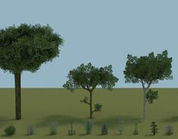 3D model Low poly environment bundle