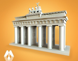 3d print model brandenburg gate ex