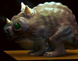 3D little alien reptile creature RIGGED