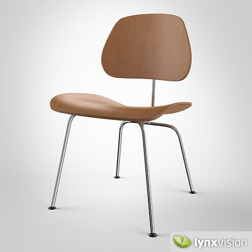 dcm chair by charles ray eames 3d model max obj fbx mtl 1