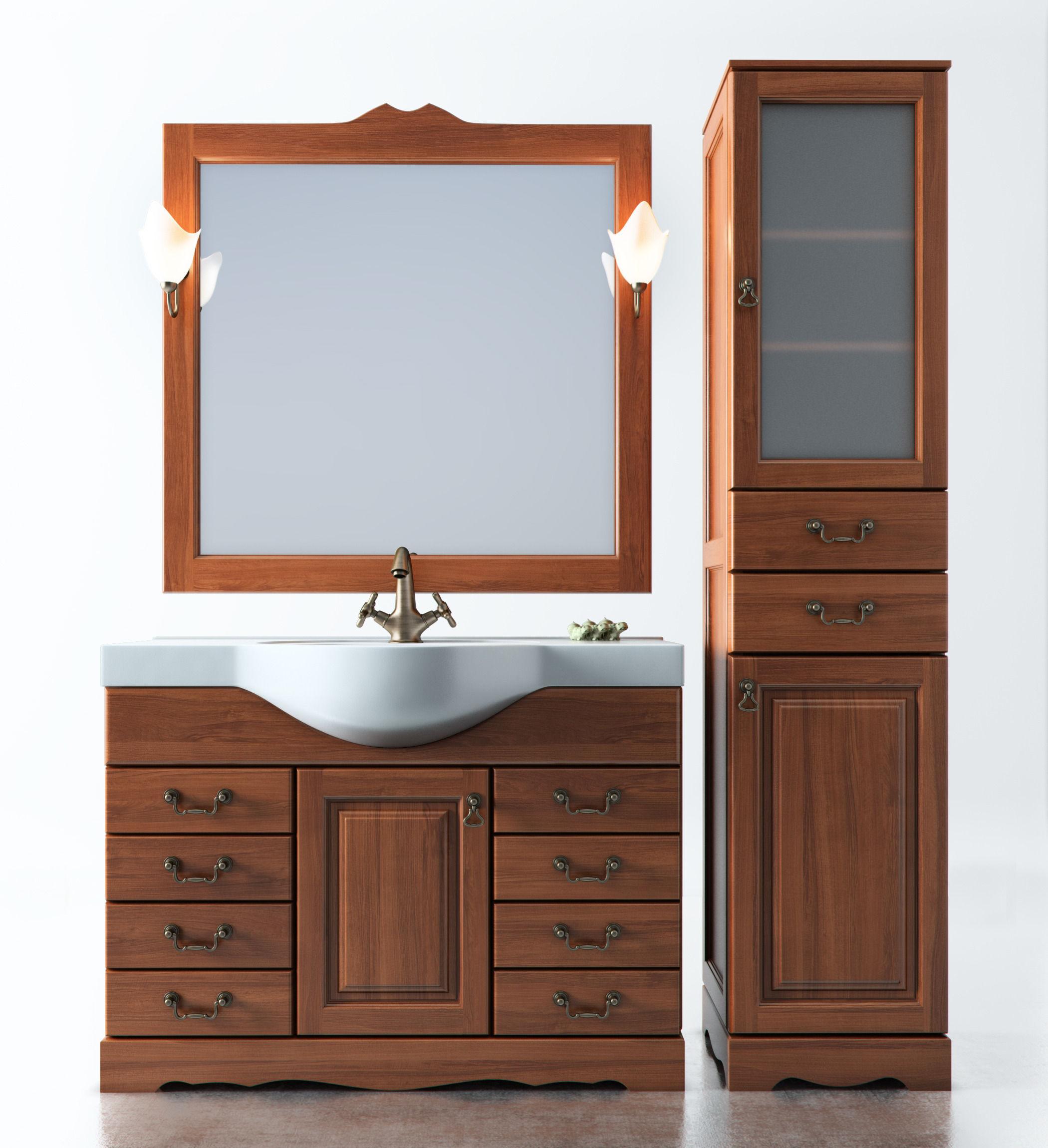 Set of bathroom furniture