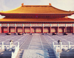 forbidden city hall of supreme harmony low-poly 3d model