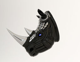 Rhino head 3D print model