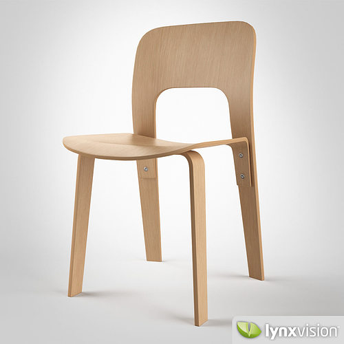 chair 2944-20 by jasper morrison 3d model max obj mtl fbx 1