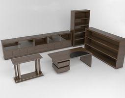 realtime office furniture  3d asset
