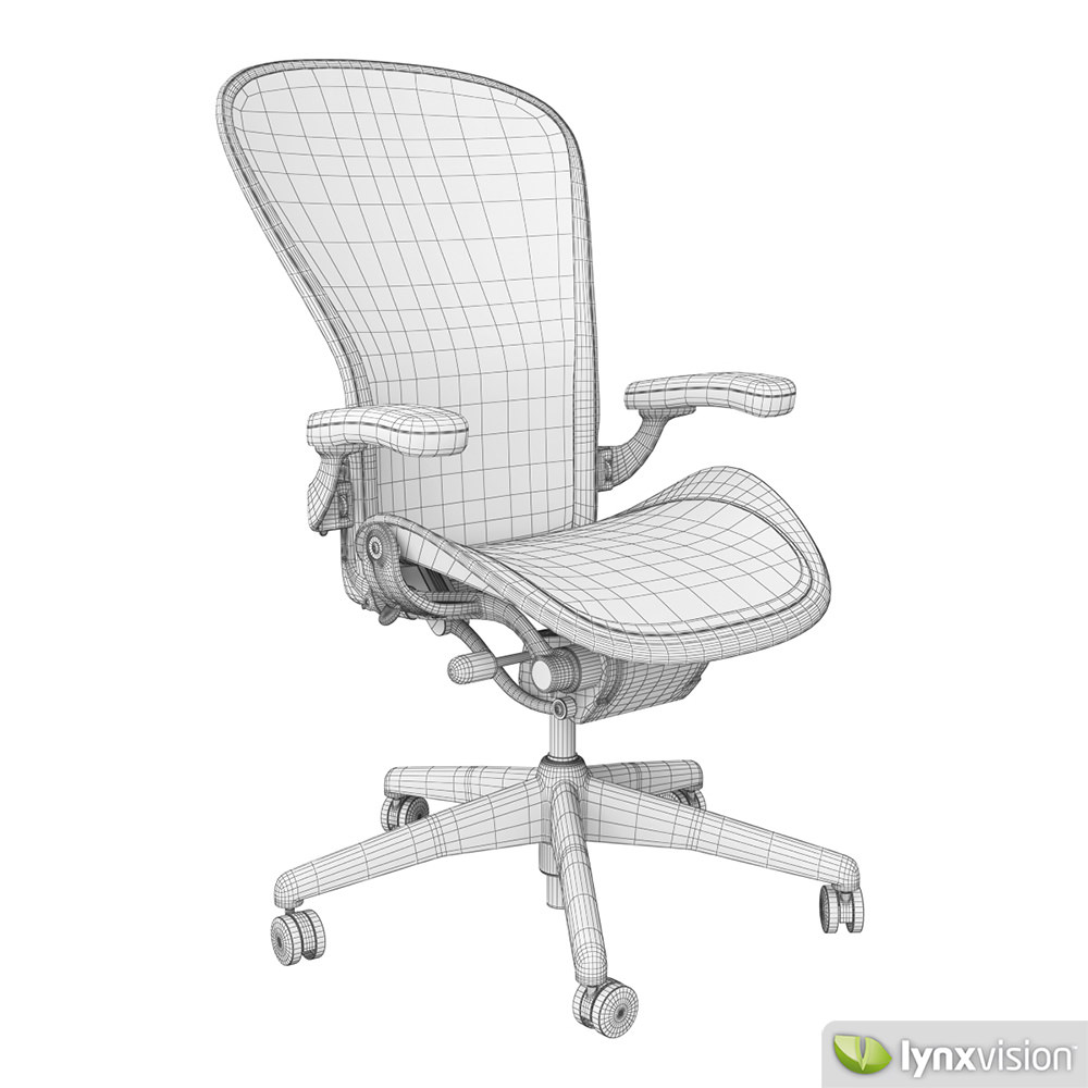 aeron chair by herman miller 3d model cgtrader