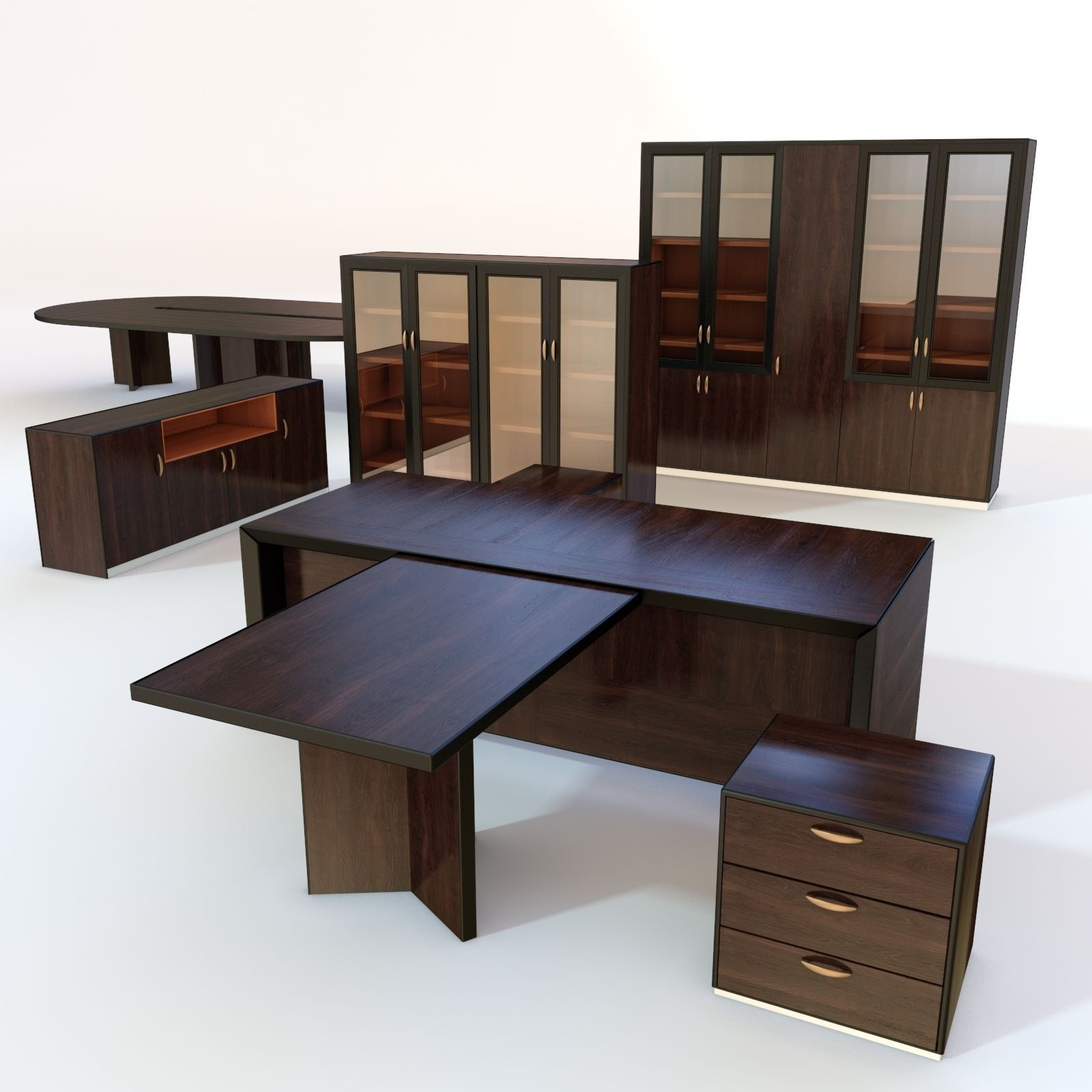 Office furniture 3 3D model | CGTrader