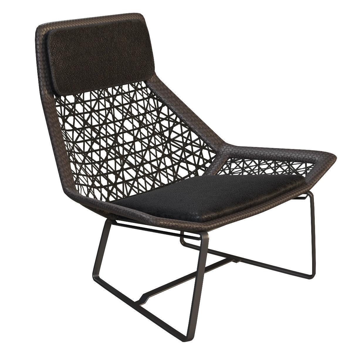 Etonnant Outdoor Wicker Chair Maia Of Kettal 3d Model Max Obj 3ds Fbx Mtl 1 ...