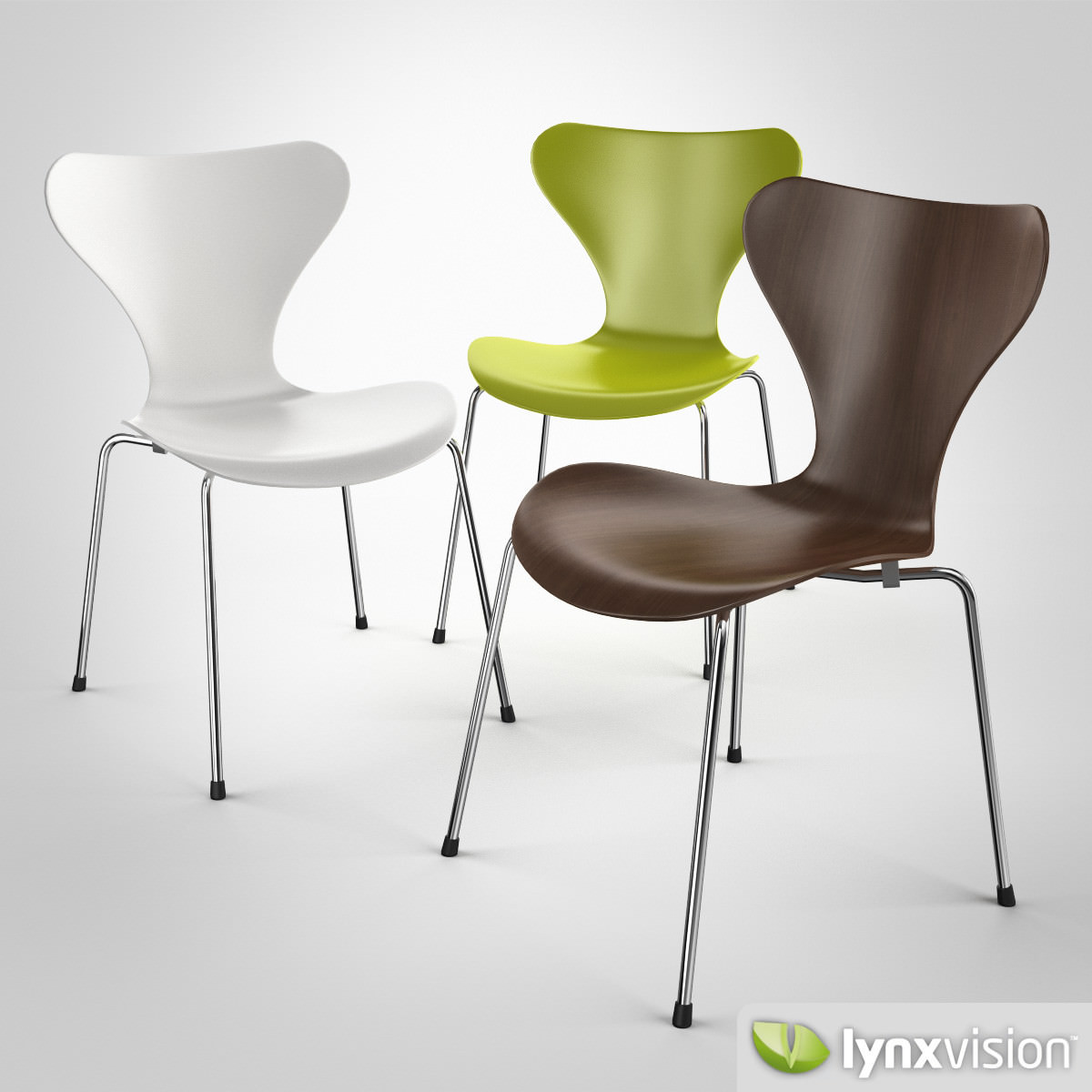 serie 7 chair by arne jacobsen 3d model cgtrader
