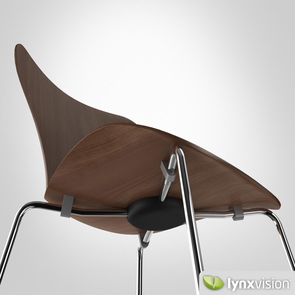 ... Serie 7 Chair By Arne Jacobsen 3d Model Max Obj Fbx Mtl 5 ...