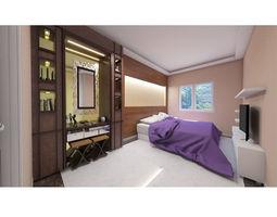 Master bedroom layout 3D