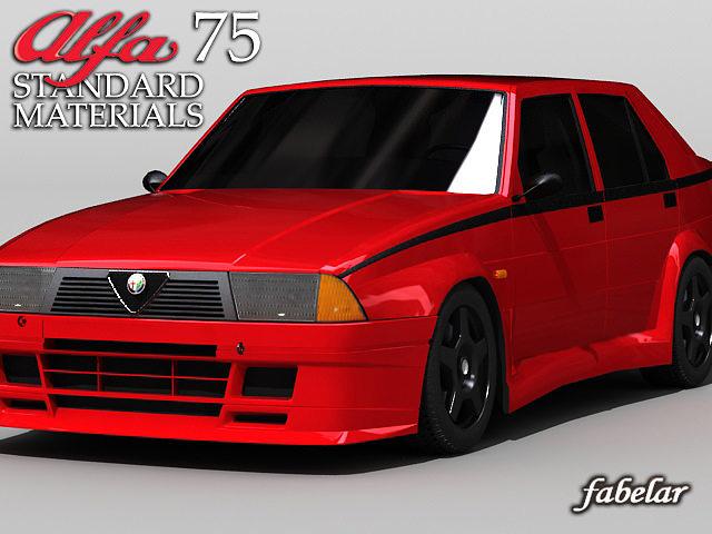alfa 75 std mat 3d model max 1