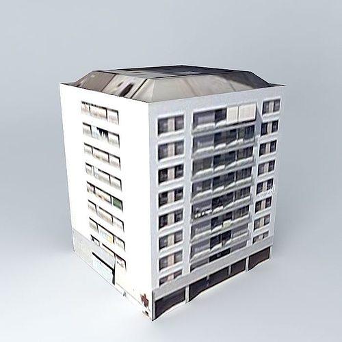 residencial electra 2 apartaments 3d model max obj mtl 3ds fbx stl dae 1