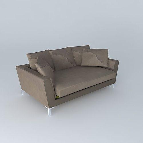 dublin the 3 seater sofa houses the world 3d model max obj mtl 3ds fbx stl dae 1