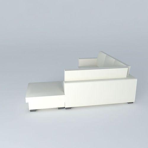 Corner sofa 5 seats KENNEDY ecru Houses of    3D Model MAX OBJ 3DS FBX STL DAE   CGTrader com