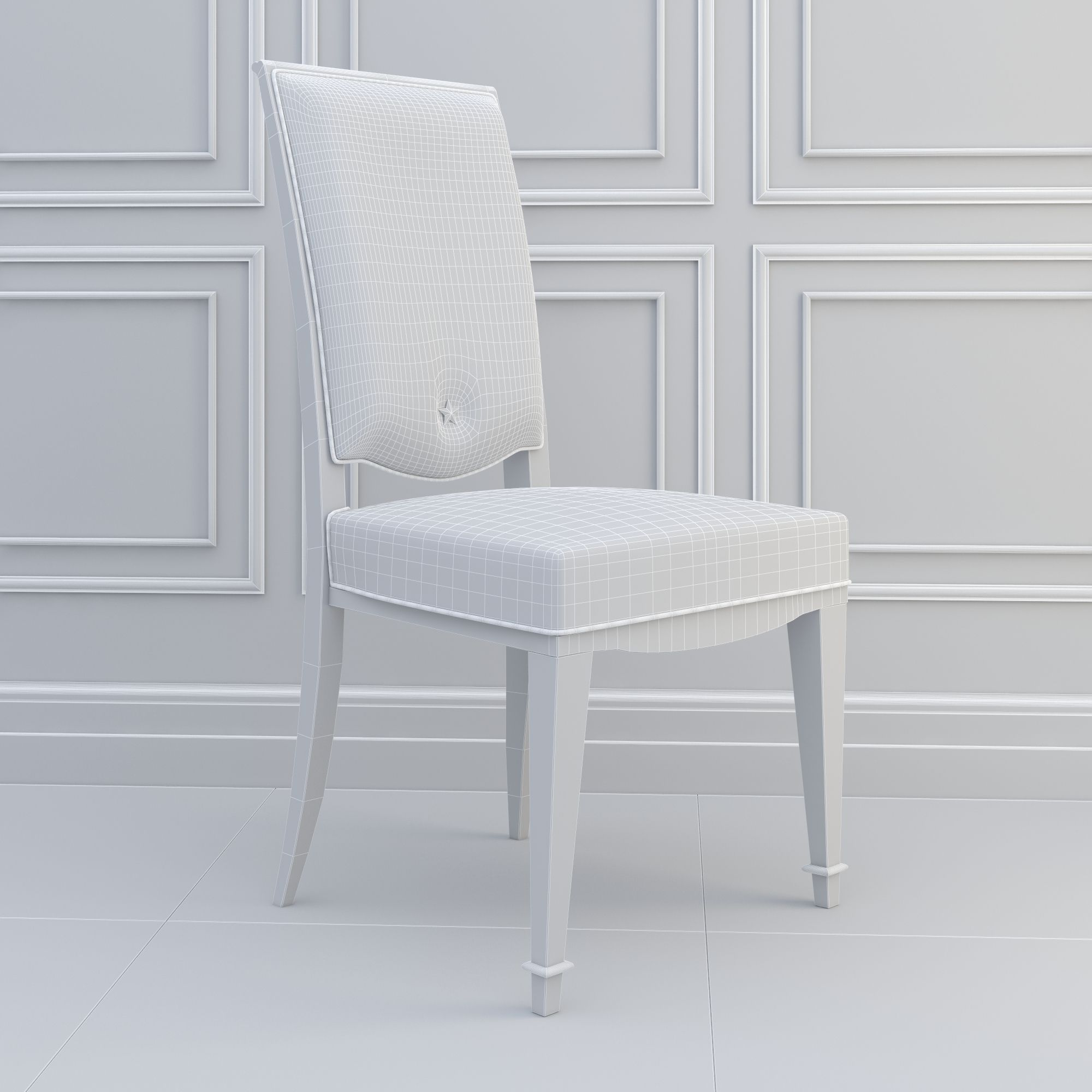 Elegant Dining Lam Lee Chair 3d Model Max Fbx