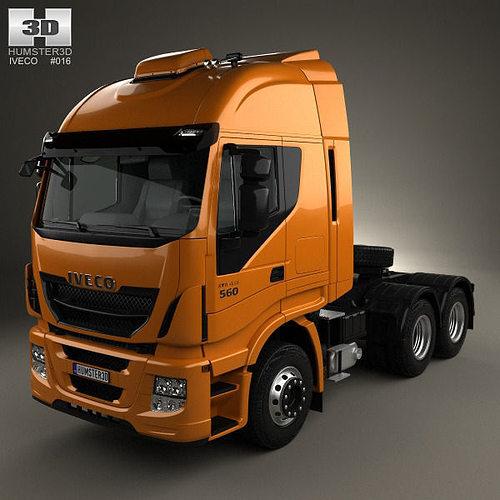 iveco stralis tractor truck 2012 3d model max obj mtl 3ds fbx c4d lwo lw lws 1