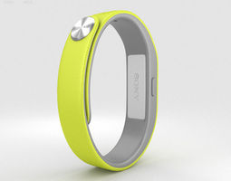 Sony Smart Band SWR10 Yellow 3D model