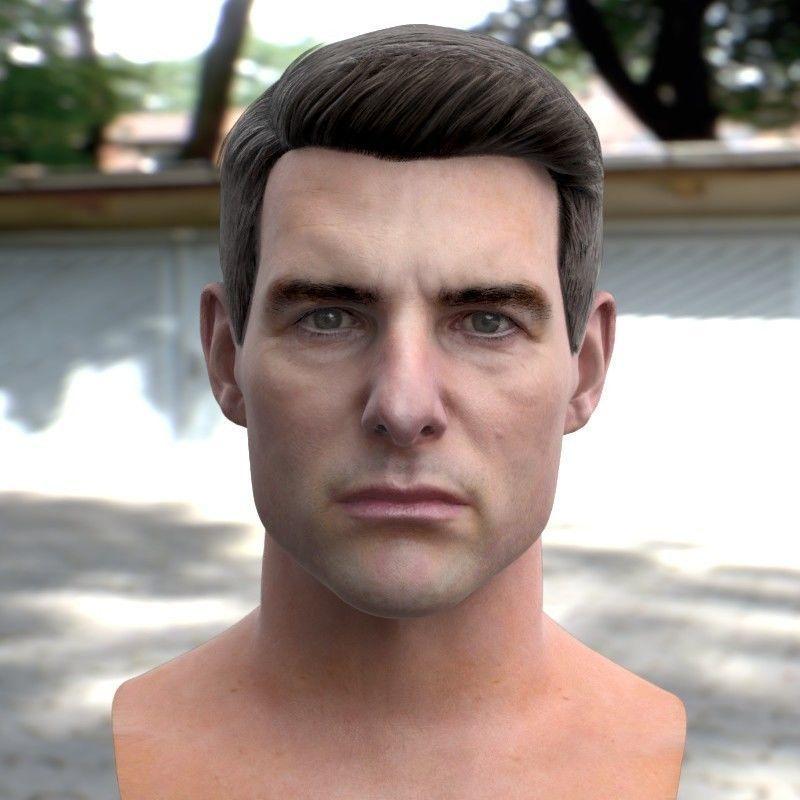 3d model Tom Cruise head