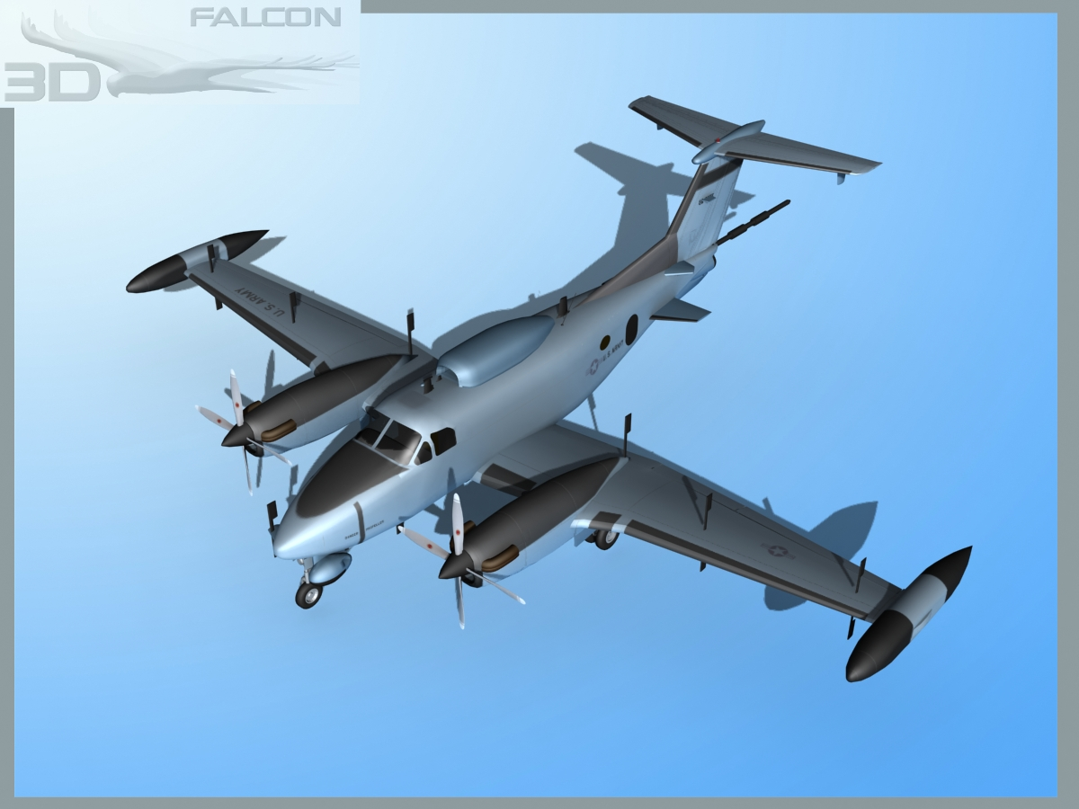 RC-12P Guardrail 2 US Army   3D model