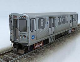 realtime 3d model cta 5000 train