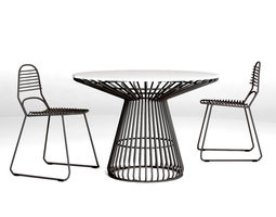 tait jak and jil chair and table 3d