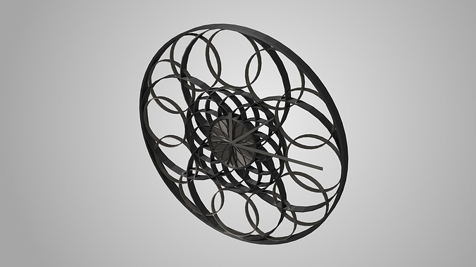 modern clock 3d model obj mtl 3ds fbx blend dae x3d 1