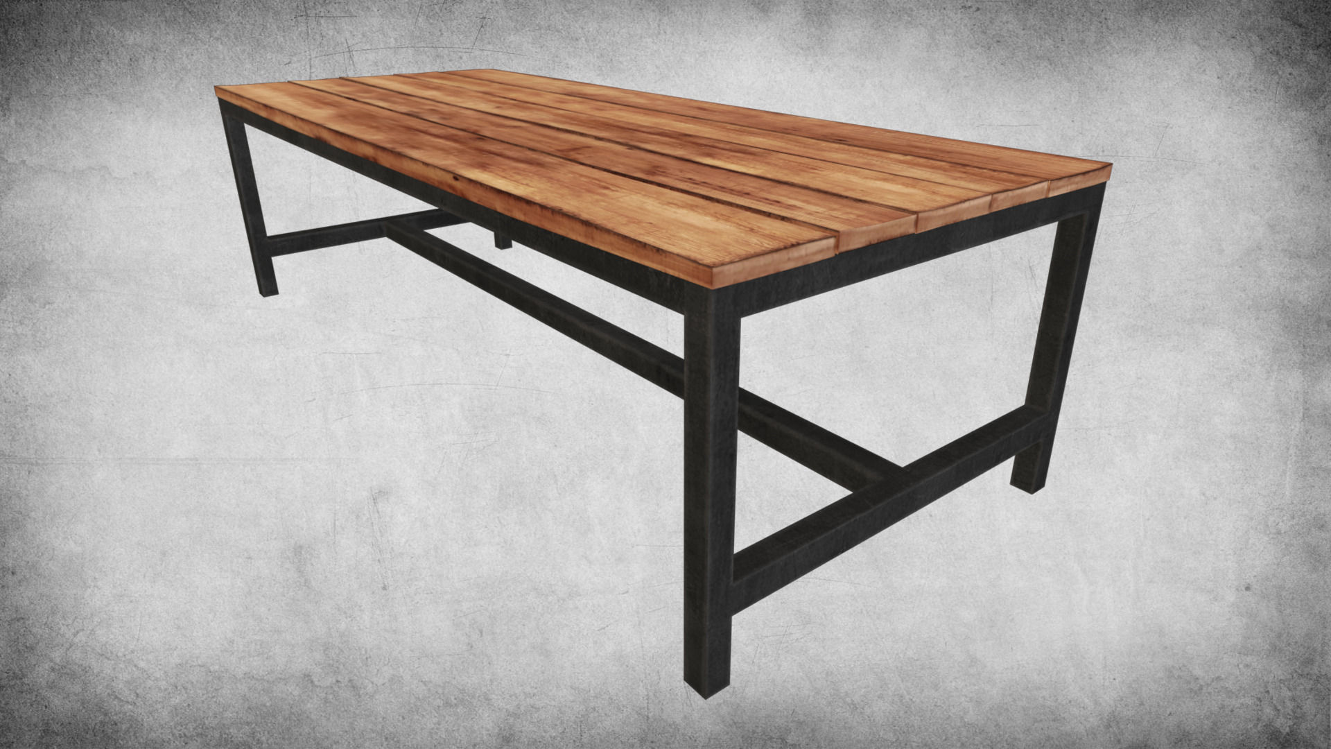 Attrayant Rustic Wood Table 03 3d Model Low Poly Max Obj Mtl 3ds Fbx Dae W3d ...