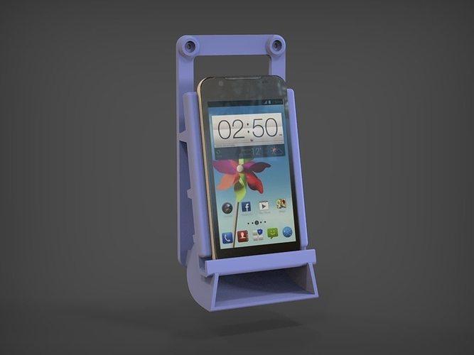 wall mount phone sound amplifier 3d model stl 1