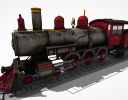 steam locomotive lk 14 game-ready 3d model animated