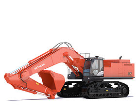 3D model Excavator Hitachi Zaxis ZX870