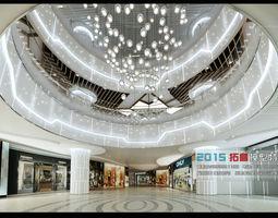 Fashionable shopping mall design 02 3D Model