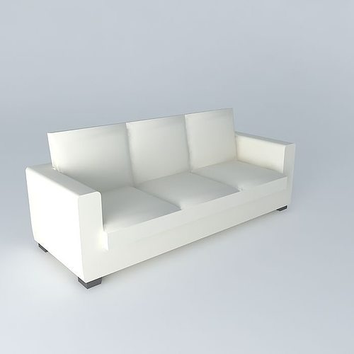 Ecru convertible sofa bed kennedy 3d cgtrader for Sofa bed 3d model