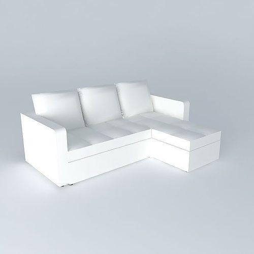 white sofa bed toronto houses the world 3d model max obj 3ds fbx stl dae 1