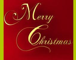Merry Christmas Text 3D model