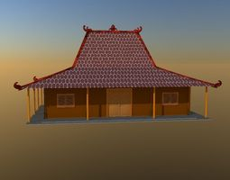 3D asset Traditional house