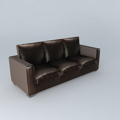 sofa kennedy crust leather maisons du monde 3d model max. Black Bedroom Furniture Sets. Home Design Ideas